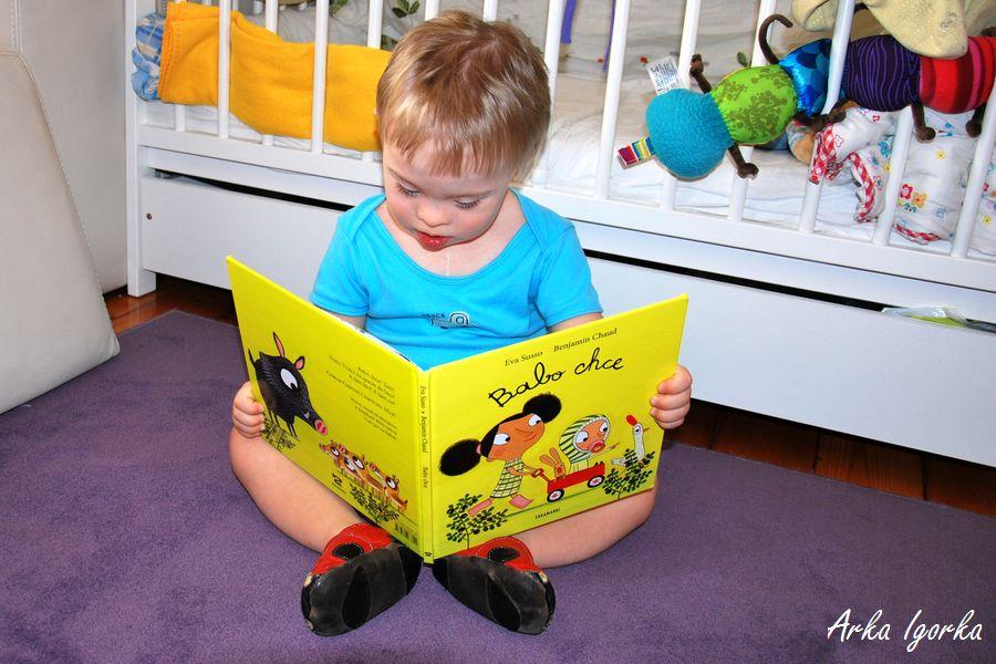 babo chce Igor czyta