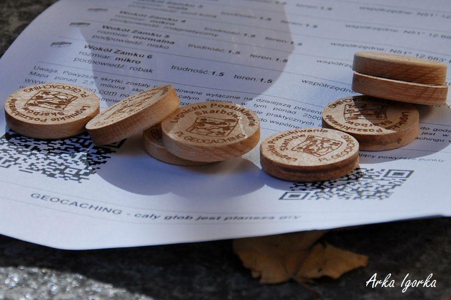 geocaching drewniane krążki 1