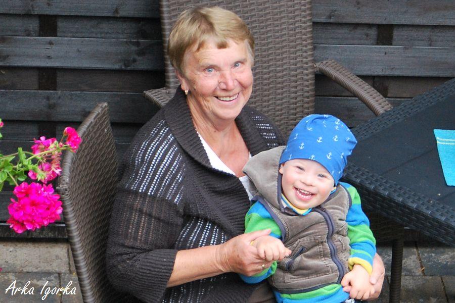 kochana babcia z Igorkiem